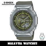 (OFFICIAL WARRANTY) Casio G-Shock GM-S2100-3A Stainless Steel Case Green Resin Strap Watch GMS2100 GMS2100-3A GM-S2100-3ADR