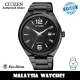 (100% Original) Citizen AW1375-58E Eco-Drive Black Dial Black Stainless Steel Men's Watch (3 Years Warranty)