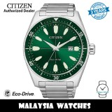 (100% Original) Citizen AW1598-70X Brycen Eco Drive Green Dial Stainless Steel Men's Watch (3 Years Warranty)