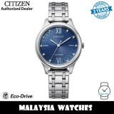 (100% Original) Citizen EM0500-73L Eco Drive Blue Dial Silver-Tone Stainless Steel Women's Watch (3 Years Warranty)