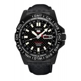 Seiko 5 Sports Automatic 100M LIMITED EDITION SRP723K1 Gents Leather Strap World Time Watch