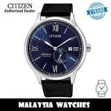 (100% Original) Citizen NJ0090-21L Automatic Super Titanium Case Black Calf Leather Strap Men's Watch (3 Years Warranty)