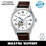 (100% Original) Citizen NP1020-15A Automatic Stainless Steel Case Brown Calf Leather Strap Men's Watch (3 Years Warranty)
