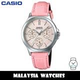 (100% Original) Casio LTP-V300L-4A Quartz Analog Pink Dial Stainless Steel Case Pink Leather Strap Woman's Watch LTPV300L LTPV300L-4A LTP-V300L-4AV