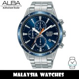 Alba AM3829X Active Chronograph Blue Dial Silver-Tone Stainless Steel Men's Watch AM3829 AM3829X1 (from SEIKO Watch Corporation)