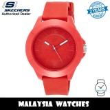 (OFFICIAL WARRANTY) Skechers SR5010 Quartz Analog Red-Tone Silicone Strap Men's Watch (2 Years Warranty)