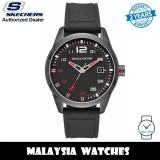 (OFFICIAL WARRANTY) Skechers SR5076 Quartz Analog Black Silicone Strap Men's Watch (2 Years Warranty)