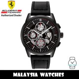 (100% Original) Scuderia Ferrari 0830829 Grand Tour Quartz Black-Tone Stainless Steel Case Black Silicone Strap Men's Watch 830829 (2 Years Scuderia Ferrari Warranty)