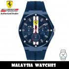 (100% Original) Scuderia Ferrari 0830869 Aspire Quartz Blue Dial Resin Case Blue Silicone Strap Men's Watch 830869 (2 Years Scuderia Ferrari Warranty)