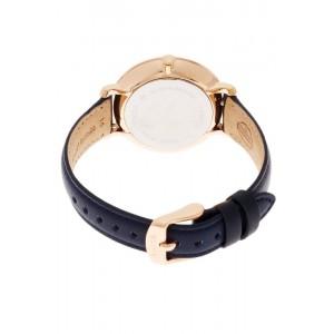 Fossil Women's ES3843 Jacqueline Rose Gold Case Navy Blue Leather Watch (100% Original)