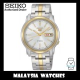 Seiko 5 SNKL84K1 Automatic See-thru Back White Dial Two-Tone Stainless Steel Bracelet Gents Watch
