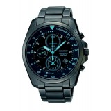 Seiko Men's Gents Chronograph Black Stainless Steel Strap Watch SNDD67P1 (Black)