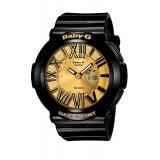 (OFFICIAL WARRANTY) Casio Baby-G BGA-160-1B Standard Digital/Analog Women's Resin Watch (Black & Gold)