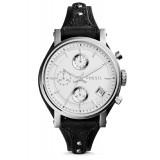 Fossil ES3817 Original Chronograph Leather Female Watch (Black)