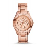Fossil ES3815 Stella Multifunction Rose-Tone Stainless Steel Watch