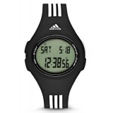 Adidas Performance ADP3174 Uraha LCD Dial Black Resin Strap Unisex Watch (Black & White)