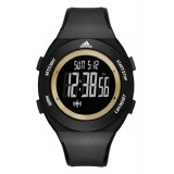 Adidas Performance ADP3208 LCD Dial Black Resin Strap Unisex Watch (Black & Gold)