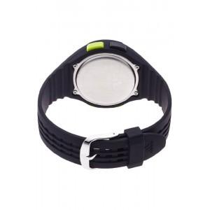 Adidas Performance ADP3177 Uraha LCD Dial Black Resin Strap Unisex Watch (Black & Green)