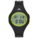 Adidas Performance ADP3177 Uraha LCD Dial Black Resin Strap Unisex Watch (Black & Green)