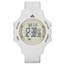Adidas Performance ADP3213 LCD Dial White Resin Strap Unisex Watch (White & Gold)