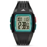 Adidas Performance ADP3231 Duramo LCD Dial Black Resin Strap Unisex Watch (Black & Green)