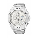 CITIZEN AN3410-54A Gents Chronograph Silver Stainless Steel Strap Watch (Silver)