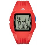 Adidas Performance ADP3238 Duramo LCD Dial Red Resin Strap Unisex Watch (Red)