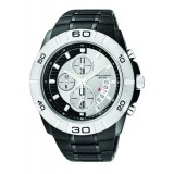 CITIZEN AN3417-55B Gents Chronograph Black Stainless Steel Strap Watch (Black & Silver)