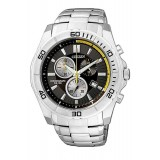 CITIZEN AN7100-50E Gents Chronograph Silver Stainless Steel Strap Watch (Silver & Black)