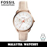 (OFFICIAL WARRANTY) Fossil Women's ES4007 Tailor Multifunction Light Brown Leather Watch (2 Years Fossil Warranty)