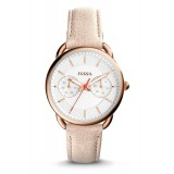 Fossil Women's ES4007 Tailor Multifunction Light Brown Leather Watch (Rose Gold & Light Brown)