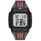 Adidas Performance ADP6097 Duramo XL Black Dial Black/Red Resin Strap Unisex Watch (Black & Red)