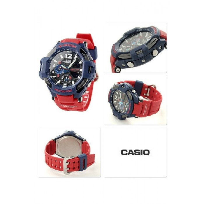 3aa4eb657 (OFFICIAL MALAYSIA WARRANTY) Casio G-SHOCK GravityMaster GA-1100-2A OPTIMUS  PRIME Men s Resin Watch (Red   Blue)