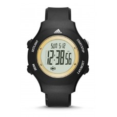 Adidas Performance ADP3212 LCD Dial Black Resin Strap Unisex Watch (Black & Gold)