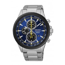 (NEW) Seiko Criteria LEE HOM SNDG79P1 Gents Sapphire Glass Chronograph Watch (Silver & Blue)
