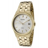 Seiko Mens Classics SGEF14P1 Silver Dial Gold Tone Stainless Steel Watch (Silver & Gold)