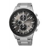 (NEW) Seiko Criteria LEE HOM SNDG77P1 Gents Sapphire Glass Chronograph Watch (Silver & Grey)