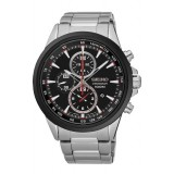 (NEW) Seiko Criteria LEE HOM SNDG73P1 Gents Sapphire Glass Chronograph Watch (Silver & Black)