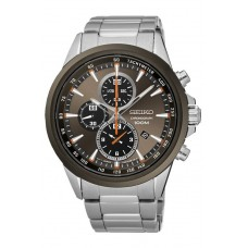(NEW) Seiko Criteria LEE HOM SNDG83P1 Gents Sapphire Glass Chronograph Watch (Silver & Bronze)