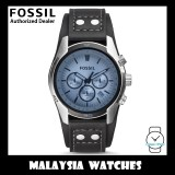 (OFFICIAL WARRANTY) Fossil Men's CH2564 Coachman Chronograph Black Leather Watch (2 Years International Warranty)
