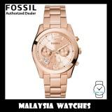 (OFFICIAL WARRANTY) Fossil Women's ES3885 Perfect Boyfriend Multifunction Rose-Tone Stainless Steel Watch (2 Years Fossil Warranty)