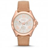 Fossil Women's Cecile AM4532 Multifunction Leather Watch (Sand)
