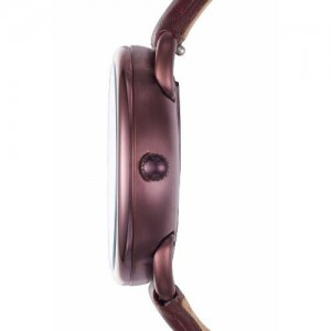 Fossil Women's ES4121 Tailor Multifunction Wine Leather Watch