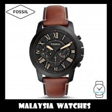 (OFFICIAL WARRANTY) Fossil Men's FS5241 Grant Chronograph Luggage Leather Watch (100% Original)