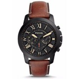 Fossil Men's FS5241 Grant Chronograph Luggage Leather Watch