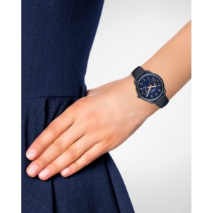Fossil Women's ES4092 Tailor Multifunction Blue Leather Watch