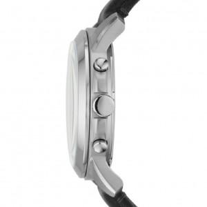 Fossil Men FS4812 Grant Chronograph Black Leather Watch (Black)