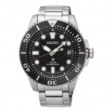 (NEW) Seiko Prospex Solar Diver's 200M SNE437P1 Stainless Steel Strap Gents Watch (Silver & Black)