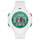 Adidas Performance ADP3230 Questra LCD Dial White Resin Strap Unisex Watch (White)
