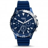 Fossil Men's CH3054 Crewmaster Sport Chronograph Blue Silicone Watch (Blue)